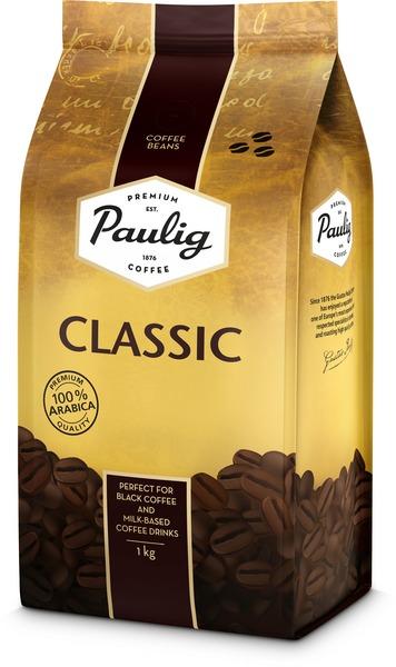 Paulig Classic 1kg kafijas pupiņas