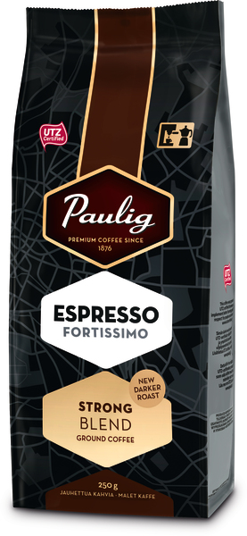 Paulig Espresso Fortissimo 250g malta kafija